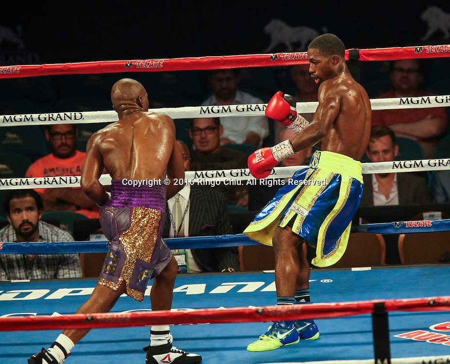 Edward Williams fights against Christon Edwards during a 6 rounds welterweight boxing match at the MGM Grand Garden Arena on July 23, 2016 in Las Vegas, Nevada. <br /> <br /> (Photo by Ringo Chiu/PHOTOFORMULA.com)<br /> <br /> Usage Notes: This content is intended for editorial use only. For other uses, additional clearances may be required.