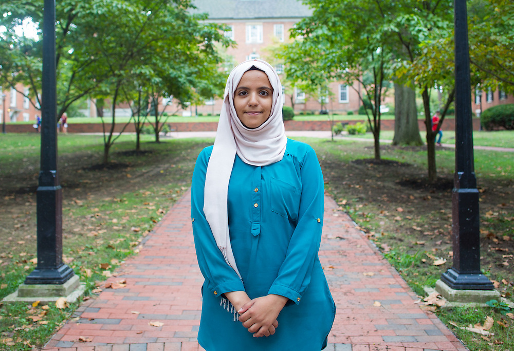 Noha Al-khalqi poses for a portrait on College Green on Thursday, September 10, 2015. Photo by Emily Matthews