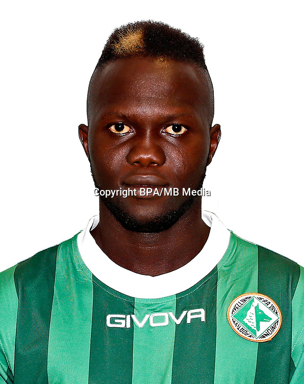 Italian League Serie B -2016-2017 / <br /> ( U. S. Avellino 1912 ) - <br /> Layousse Diallo