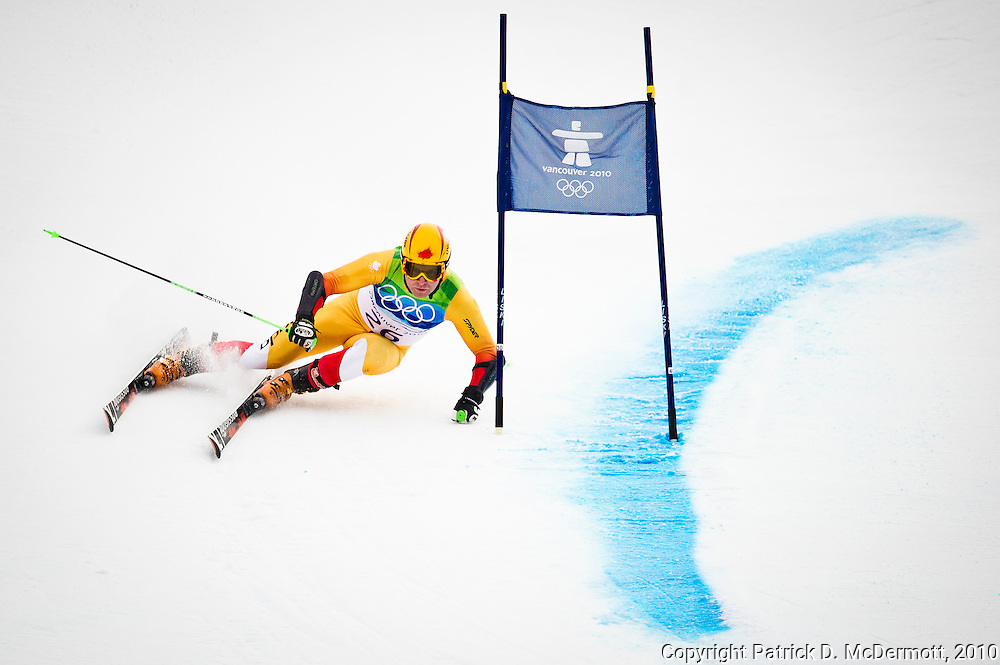 Robbie Dixon of Canada competes in the Men's Giant Slalom during the 2010 Vancouver Winter Olympics in Whistler, British Columbia, Tuesday, Feb. 23, 2010.