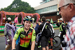 Chloe Hosking (AUS) celebrates the win at GREE Tour of Guangxi Women's WorldTour 2019 a 145.8 km road race in Guilin, China on October 22, 2019. Photo by Sean Robinson/velofocus.com