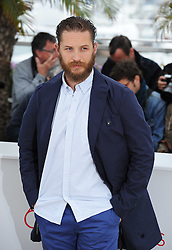 Tom Hardy poses during the photocall of 'Lawless' presented in competition at the 65th Cannes film festival on May 19, 2012 in Cannes. Photo by Ki Price/i-images<br /> File Photo : Tom Hardy in talks to play both Kray Twins.<br /> Tom Hardy is rumoured to be in line to play the notorious Kray twins, Reginald and Ronald, in an upcoming biopic.<br /> Photo filed Tuesday 25th Feb 2014.