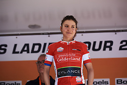 Omer Shapira (ISR) earns the combativity prize at Boels Ladies Tour 2018 - Stage 4, a 124.3km road race from Stramproy to Weert, Netherlands on August 31, 2018. Photo by Sean Robinson/velofocus.com