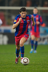 BUCHAREST, ROMANIA - Thursday, December 2, 2010: FC Steaua Bucuresti's Cristian Tanase in action against Liverpool during the UEFA Europa League Group K match at the Stadionul Steaua. (Pic by: David Rawcliffe/Propaganda)