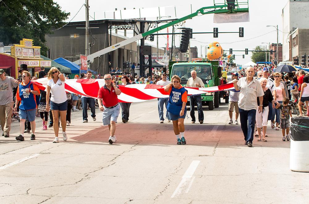 Razzle Dazzle Good Times Parade at Decatur Celebration, Decatur, Illinois, August 3, 2013. Photo: George Strohl