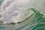 looking into the barrel of a large wave, Huntington Beach, California