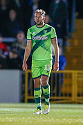 Goalscorer Norwich City forward Jordan Rhodes (11), on loan from Sheffield Wednesday, during the EFL Cup match between Wycombe Wanderers and Norwich City at Adams Park, High Wycombe, England on 25 September 2018.