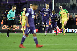 January 17, 2018 - Toulouse, France - Penalty derniere minute de jeu pour Toulouse inscrit par Max Gradel (Credit Image: © Panoramic via ZUMA Press)
