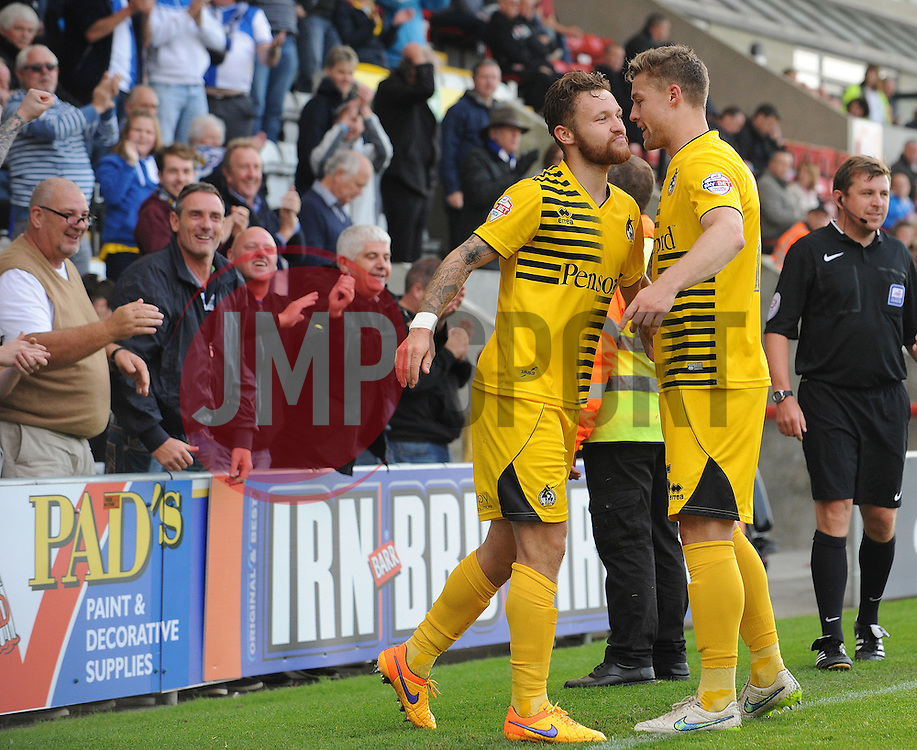 Matty Taylor & James Clarke - Mandatory byline: Neil Brookman/JMP - 07966 386802 - 03/10/2015 - FOOTBALL - Globe Arena - Morecambe, England - Morecambe FC v Bristol Rovers - Sky Bet League Two