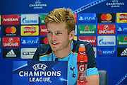 Eric Dier looking forward to Champions League during Tottenham Hotspur pre match Press Conference  at Tottenham Training Centre, Enfield, United Kingdom on 13 September 2016. Photo by Jon Bromley.