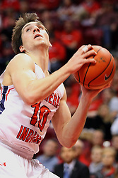 08 November 2015: Jacob Norman(10). Illinois State Redbirds host the Southern Indiana Screaming Eagles and beat them 88-81 in an exhibition game at Redbird Arena in Normal Illinois (Photo by Alan Look)