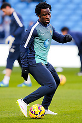 Manchester City's Wilfred Bony warms up ahead of the Barclays Premier League clash between Manchester City and Newcastle United - Photo mandatory by-line: Matt McNulty/JMP - Mobile: 07966 386802 - 21/02/2015 - SPORT - Football - Manchester - Etihad Stadium - Manchester City v Newcastle United - Barclays Premier League