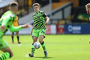 Forest Green Rovers Kyle Taylor(28),on loan from Bournemouth passes the ball forward during the EFL Sky Bet League 2 match between Cambridge United and Forest Green Rovers at the Cambs Glass Stadium, Cambridge, England on 7 September 2019.