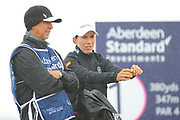 Carlota Ciganda gets ready for the final round of the Aberdeen Standard Investment Ladies Scottish Open 2018 at Gullane Golf Club, Gullane, Scotland on 29 July 2018. Picture by Kevin Murray.