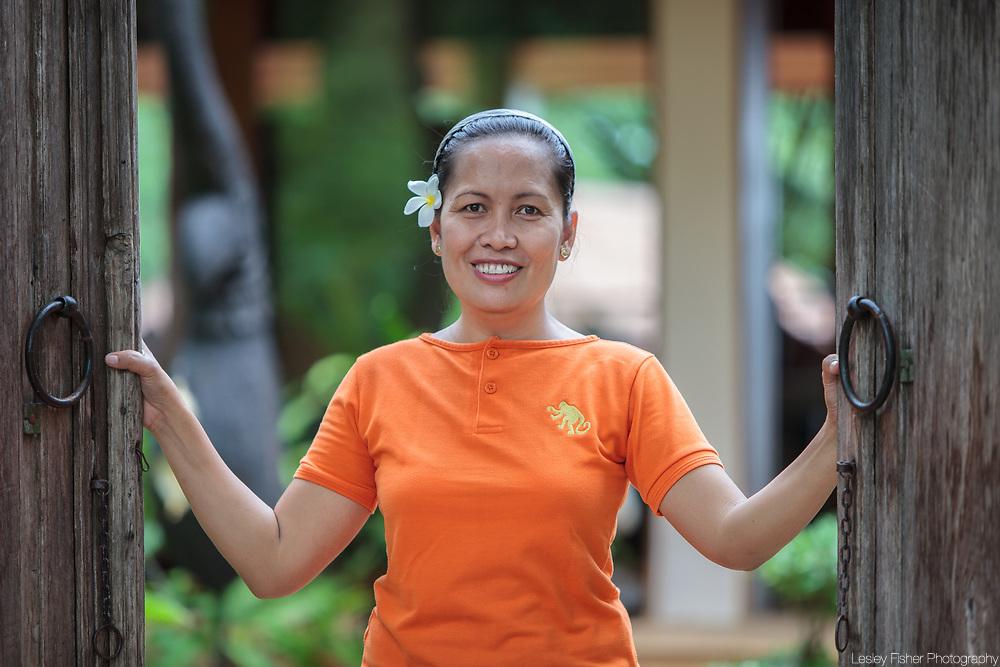 Villa Staff at Baan Wanora, a luxury, private, beach front villa located in Laem Sor, Koh Samui, Thailand
