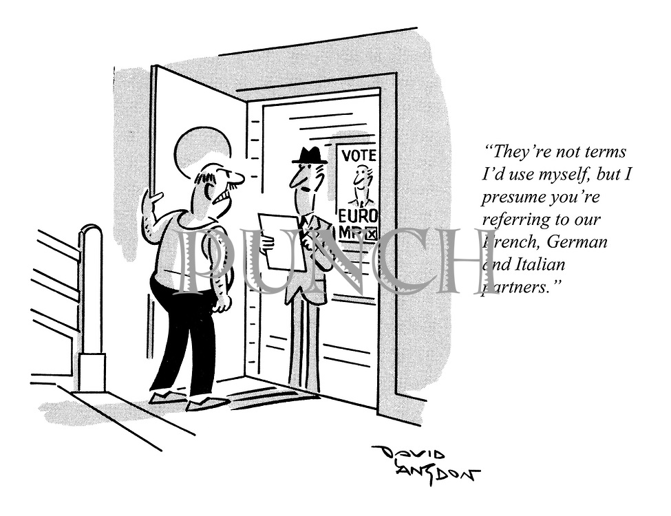 """""""They're not terms I'd use myself, but I presume you're referring to our French, German and Italian partners."""""""