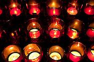 Worship Candles in Serra Chapel, Mission San Juan Capistrano, California