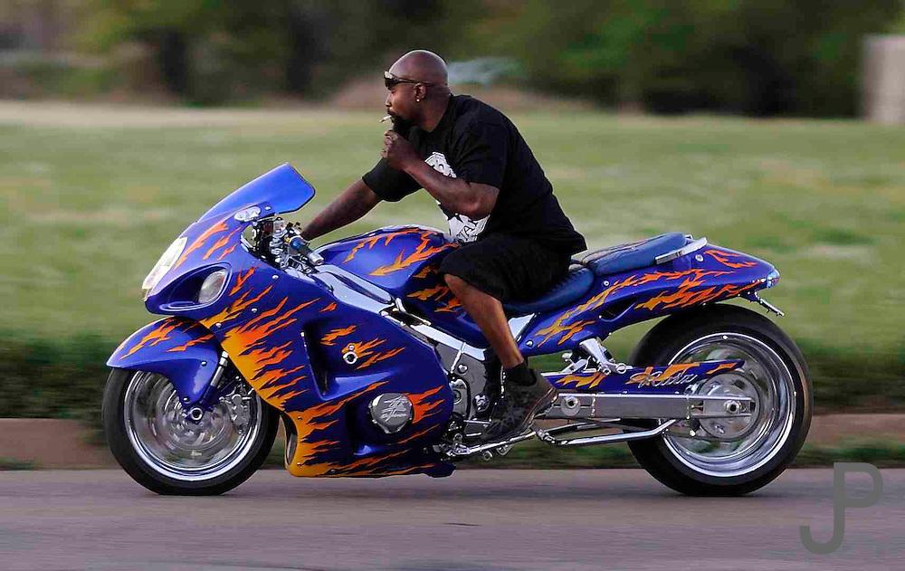 Saturday at Thunder Run motorcycle rally