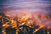 Chicago in the Fog<br /> <br /> Local photographer Michael Salisbury snapped some excellent photos of the fog swallowing Chicago this summer.<br /> ©Michael Salisbury/Exclusivepix