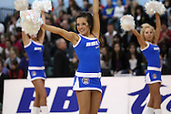 Guildford, England, Sunday 21st March 2010: BBL Babes entertain the crowd before the  BBL Trophy Final between Cheshire Jets and Newcastle Eagles at the Guildford Spectrum, Surrey, UK. Final score Cheshire 95-111 Newcastle.  (photo by Andrew Tobin/SLIK images)
