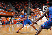 KNOXVILLE, TN - JANUARY 7: Bradley Beal #23 of the Florida Gators passes the ball against the Tennessee Volunteers at Thompson-Boling Arena on January 7, 2012 in Knoxville, Tennessee. Tennessee defeated Florida 67-56. (Photo by Joe Robbins) *** Local Caption *** Bradley Beal