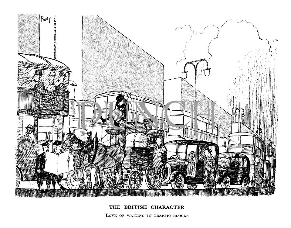 The British Character. Love of waiting in traffic blocks