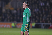 Tottenham Hotspur  Michel Vorm (13) during the The FA Cup 4th round match between Newport County and Tottenham Hotspur at Rodney Parade, Newport, Wales on 27 January 2018. Photo by Gary Learmonth.