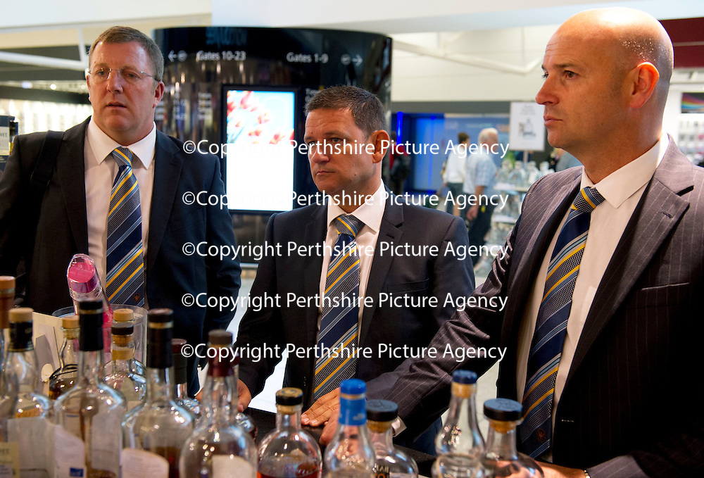 St Johnstone v Eskisehirspor....18.07.12  Uefa Cup Qualifyer<br /> Chairman Steve Brown (centre) with Roddy Grant and associate director Charlie Fraser.<br /> Picture by Graeme Hart.<br /> Copyright Perthshire Picture Agency<br /> Tel: 01738 623350  Mobile: 07990 594431