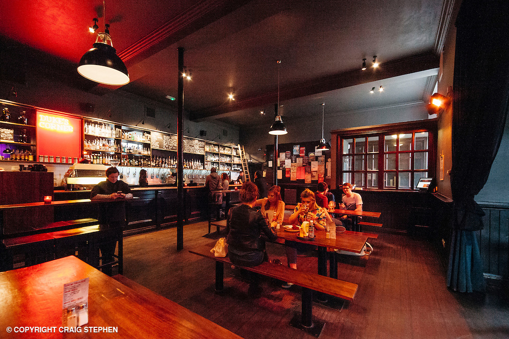 The List Magazine / Dundee City Council - Dundee Larder publication food / environmental photography.<br /> <br /> Dukes Corner Bar, Brown Street, Dundee.