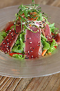 Japanese Salad with slices of beef