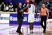 Leka Spiro Omogbo Manuel<br /> Victoria Libertas Pesaro - Dolomiti Energia Trentino<br /> Lega Basket Serie A 2017/2018<br /> Pesaro, 25/03/2018<br /> Foto A.Giberti / Ciamillo - Castoria