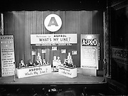 ASPRO Luxembourg Radio Programme 'What's my Line' Panel in Ireland.31/01/1955