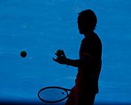 ANDREY RUBLEV (RUS), Silhouette,Schatte,von oben<br /> <br /> Tennis - Australian Open 2018 - Grand Slam / ATP / WTA -  Melbourne  Park - Melbourne - Victoria - Australia  - 19 January 2018.