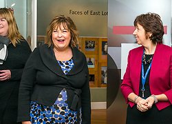 Pictured: Scottish Government Public Libraries Funding Announcement. Culture Minister Fiona Hyslop announces this year's successful bids to the &pound;450,000 Public Library Improvement Fund (PLIF) at the John Grey Centre, Haddington Library, Haddington, East Lothian, Scotland, United Kingdom.  PLIF has been supporting innovative library projects since 2006 which help both individuals and communities. Fiona Hyslop and the Depute Chief Executive of East Lothian Council,  Monica Patterson. 13 December 2018  <br /> <br /> Sally Anderson | EdinburghElitemedia.co.uk