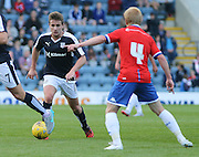 Dundee's Simon Ferry runs at Wigan's David Perkins - Dundee v Wigan Athletic - pre season friendly at Dens Park<br /> <br />  - &copy; David Young - www.davidyoungphoto.co.uk - email: davidyoungphoto@gmail.com