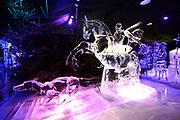 Het IJsbeelden Festival presenteert '200 jaar Koninkrijk der Nederlanden', een vorstelijke geschiedenis in ijs en sneeuw.<br /> <br /> Op de foto:  IJssculptuur van Maurits van Oranje