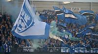 Fotball , 1. mai 2017 , Eliteserien<br /> Sarpsborg - Rosenborg 1-2<br /> illustrasjon , flagg , sarpsborg 08 , fan , fans , publikum , fossefallet