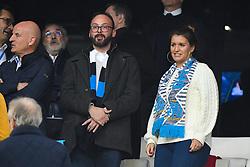 October 28, 2018 - Marseille, france - Marlene Schiappa et Cedric Bruguiere - Marseille vs Paris SG - Ligue 1 Conforama (Credit Image: © Panoramic via ZUMA Press)