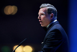 Chairman of the PFA Ritchie Humphreys on stage during the Professional Footballers' Association Awards 2017 at the Grosvenor House Hotel, London