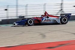 February 12, 2019 - U.S. - AUSTIN, TX - FEBRUARY 12: Matheus Leist (4) in a Chevrolet powered Dallara IR-12 at turn 1 during the IndyCar Spring Training held February 11-13, 2019 at Circuit of the Americas in Austin, TX. (Photo by Allan Hamilton/Icon Sportswire) (Credit Image: © Allan Hamilton/Icon SMI via ZUMA Press)