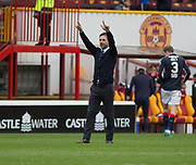 Dundee's interim manager Neil McCann slautes the Dundee support at the end - Motherwell v Dundee, Fir Park, Motherwell, Photo: David Young<br /> <br />  - © David Young - www.davidyoungphoto.co.uk - email: davidyoungphoto@gmail.com