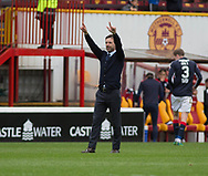 Dundee&rsquo;s interim manager Neil McCann slautes the Dundee support at the end - Motherwell v Dundee, Fir Park, Motherwell, Photo: David Young<br /> <br />  - &copy; David Young - www.davidyoungphoto.co.uk - email: davidyoungphoto@gmail.com