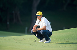 December 11, 2016 - Hong Kong, Hong Kong S.A.R, China - Final round of the 58th Hong Kong Open at The Hong Kong Golf Club Fanling, Hong Kong, Hong Kong SAR, China. Sam Brazel takes the trophy by one stroke with a birdie on the 18th. Runnerup Rafa Cabrera Bello on the green of the 17th contemplating the next putt. (Credit Image: © Jayne Russell via ZUMA Wire)
