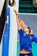 Katowice, Poland - 2017 September 02: Partner Giovanni Miglietti from SO Italy spikes the ball while SO Italy versus SO Belarus during European Unified Volleyball Tournament 2017 at Spodek Hall on September 02, 2017 in Katowice, Poland.<br /> <br /> Adam Nurkiewicz declares that he has no rights to the image of people at the photographs of his authorship.<br /> <br /> Picture also available in RAW (NEF) or TIFF format on special request.<br /> <br /> Any editorial, commercial or promotional use requires written permission from the author of image.<br /> <br /> Image can be used in the press when the method of use and the signature does not hurt people on the picture.<br /> <br /> Mandatory credit:<br /> Photo by © Adam Nurkiewicz / Mediasport