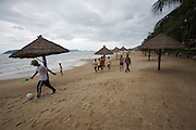 Evason Ana Mandara & Six Senses Spa ? Nha Trang. Young men playing soccer.