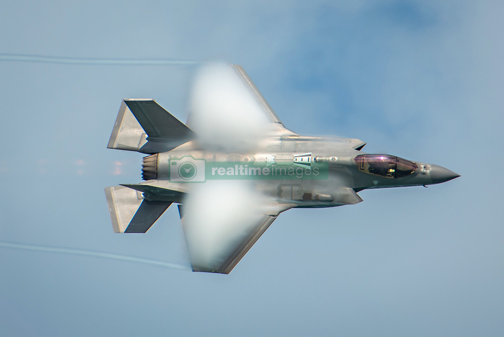 May 24, 2019 - Miami, FL, United States - A U.S. Air Force F-35A Lightning II stealth fighter aircraft flown by Capt. Andrew Dojo Olson performs flight maneuvers during the  Miami Beach Air and Sea Show May 24, 2019 in Miami, Florida. (Credit Image: © Jensen Stidham via ZUMA Wire)