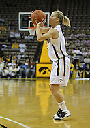 December 22 2010: Iowa guard Kamille Wahlin (2) puts up a shot during the second half of an NCAA college basketball game at Carver-Hawkeye Arena in Iowa City, Iowa on December 22, 2010. Iowa defeated Northern Iowa 75-64.