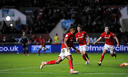 Niclas Eliasson of Bristol City celebrates his goal 1-0-Mandatory by-line: Nizaam Jones/JMP - 18/01/2020 - FOOTBALL - Ashton Gate - Bristol, England - Bristol City v Barnsley - Sky Bet Championship