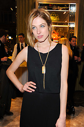 Model HOLLY BROWN at a Cocktail party to celebrate the opening of the new Miu Miu boutique, 150 New Bond Street, London hosted by Miuccia Prada and Patrizio Bertelli on 3rd December 2010.