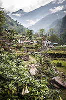 Shyauli village sits in a picturesque valley of the Annapurna region, Nepal.